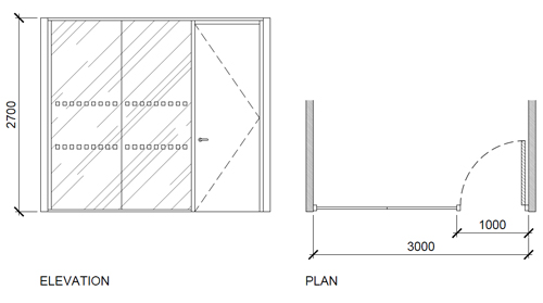 Office Partitioning Illustration